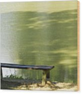 Bench On A Lake Wood Print