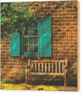 Bench - Please Have A Seat Wood Print