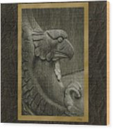 Benched Eagle Wood Print