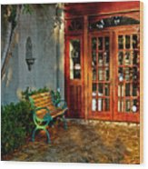 Benched In Fairhope Alabama Wood Print