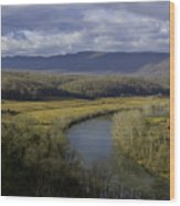 Bend In The River Wood Print