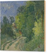 Bend In The Road Through The Forest Wood Print