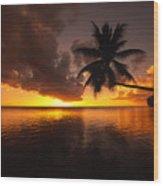 Bending Palm Wood Print