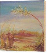 Bending Yucca Wood Print by Summer Celeste