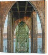 Beneath The Bridge Wood Print