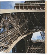 Beneath The Eiffel Tower Wood Print