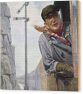 Beneker: The Engineer, 1913 Wood Print by Granger