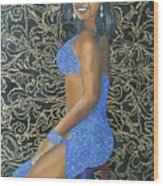 Benita As A Dancing Star Wood Print