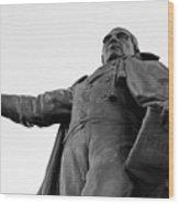 Benito Juarez Statue Wood Print