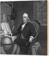 Benjamin Franklin -- The Scientist Wood Print