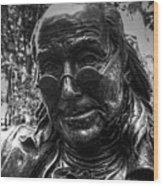 Benjamin Franklin Memorial Wood Print