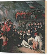 Benjamin West Wood Print by The Death of Nelson