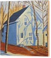 Bennett Street Houses Wood Print