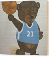 Benny Bear Basketball  Wood Print