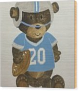 Benny Bear Football Wood Print