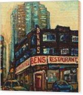 Bens Restaurant Deli Wood Print