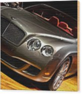 Bentley Continental Gt Wood Print by Cosmin Nahaiciuc