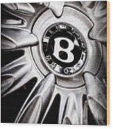 Bentley Wheel Emblem -0303ac Wood Print