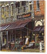 Bentleys Restaurant Woodstock Vermont Wood Print