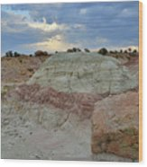 Bentonite Dunes Along Little Park Road Wood Print