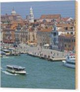 Benvenuto Venice Wood Print