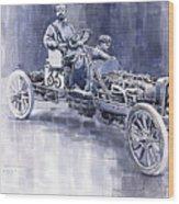 Benz 60hp Targa Florio Rennwagen 1907 Wood Print