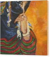 Berbere Marocaine Wood Print