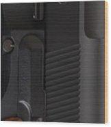 Beretta Gun Closeup Wood Print