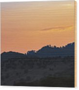Bergama Sunset Wood Print