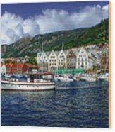 Bergen - Norway Wood Print