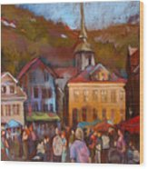 Bergen Square Wood Print