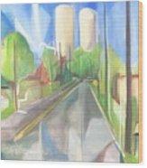 Bergen Turnpike  Wood Print