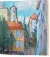 Bergen's Yellow-house District Wood Print
