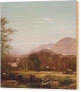 Berkshire Landscape Wood Print