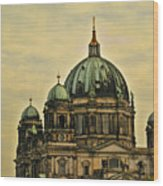 Berlin Architecture Wood Print by Jon Berghoff