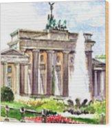Berlin Brandenburg Gate Wood Print