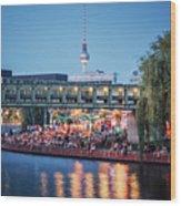 Berlin - Capital Beach Bar Wood Print