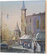Berlin Clock Tower Wood Print