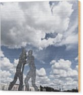 Berlin Molecule Men Spree Wood Print