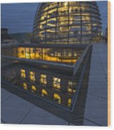 Reichstag Dome Terrace #1, Berlin, Germany Wood Print
