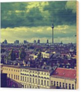 Berlin Roofscape Wood Print