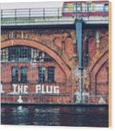 Berlin Street Art - Pull The Plug Wood Print