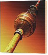 Berlin Television Tower - Berlin I Love You Wood Print
