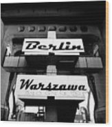 Berlin To Warsaw Frame 1  Wood Print