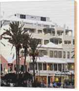 Bermuda Front Street Four Wood Print