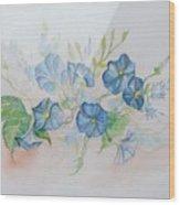 Bermuda Morning Glories Wood Print