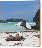 Bermuda On The Beach Wood Print