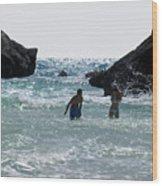 Bermuda Splash Wood Print