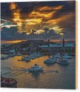 Bermuda Sunset Wood Print