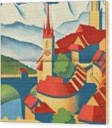 Berne Switzerland - Folded Wood Print